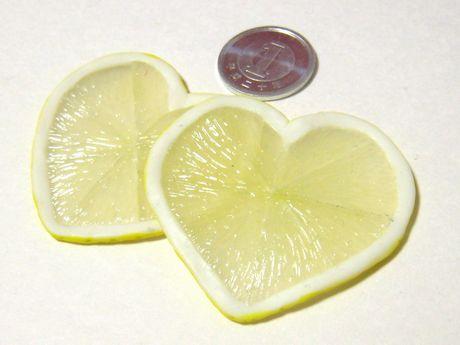 ハートのレモンスライス04262
