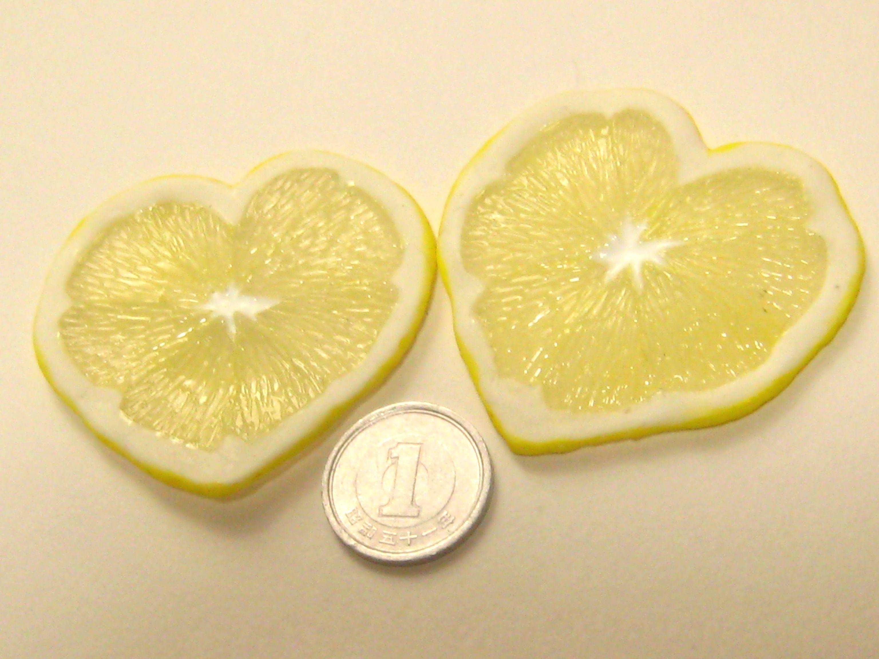 ハートのレモンスライス05232