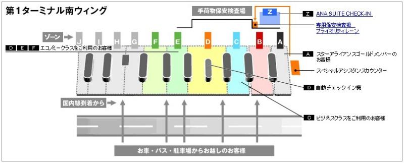 成田国際空港 Zゾーン MAP