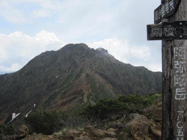 阿弥陀岳山頂からの赤岳
