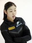 キム・ヨナ 舌出し 韓国フィギュアスケート選手 口開け 高画質 エロかわいい画像6