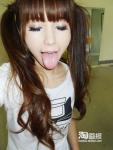 中国人モデル セクシー 舌出し ツインテール 顔アップ 顔射ぶっかけ用素材 高画質エロかわいい画像454