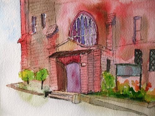 川口教会玄関2
