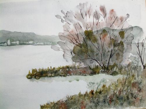 琵琶湖 ならざき風