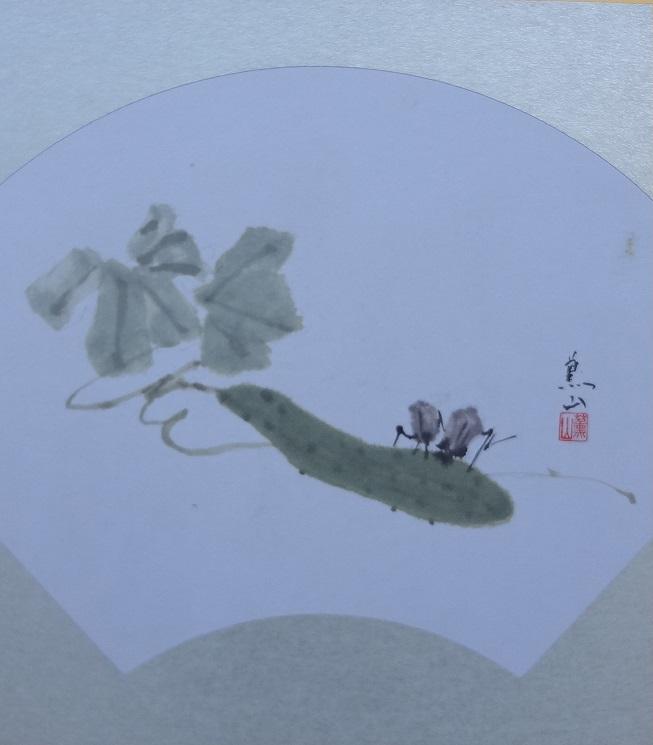 胡瓜と鈴虫