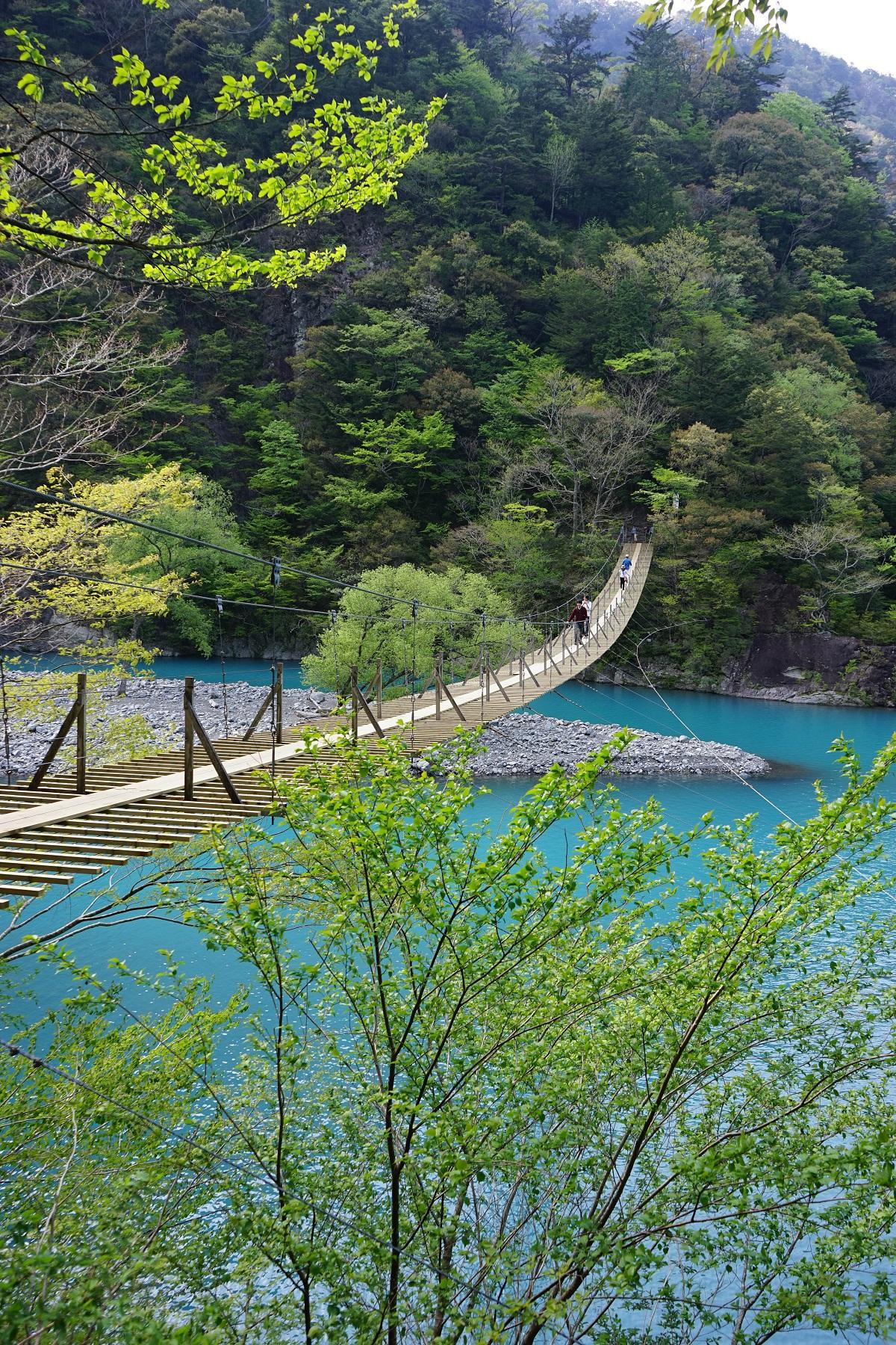 寸又峡・夢の吊り橋