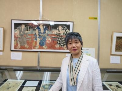 郷土資料館の浮世絵