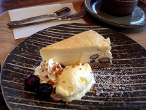木の芽黒豆チーズケーキ