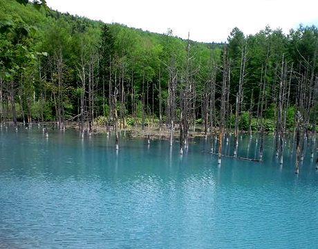 青い池画像