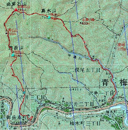 20140208鷹ノ巣・高水山地図3日目