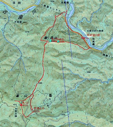 20140308嶽ノ森山地図1日目①