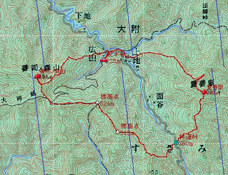 20140308嶽ノ森山地図2日目