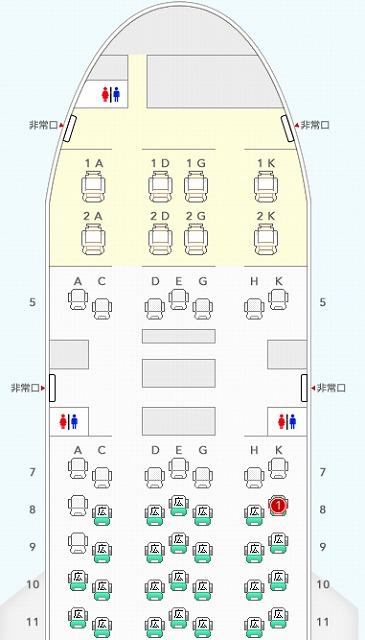 6月フライト席