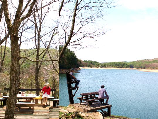 山と湖のカフェ1