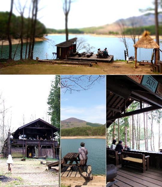 山と湖のカフェ5