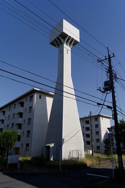 八王子大和田郵政宿舎の給水塔その3