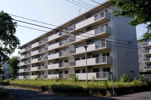 八王子大和田郵政宿舎住棟南側