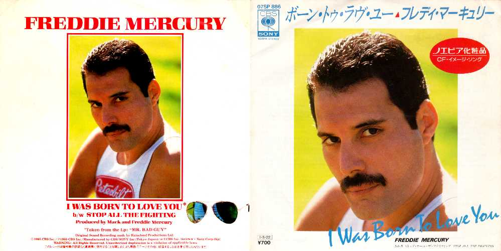 Freddie Mercury - I Was Born To Love You Front