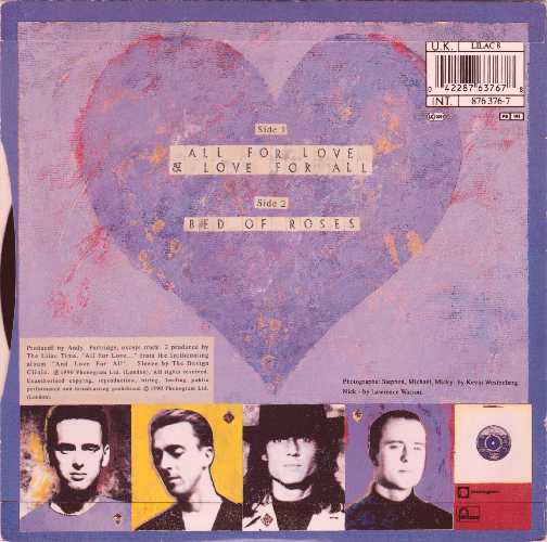 The Lilac Time All For Love & Love For All Cover Back