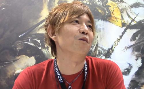 インタビューに答える吉田P/D