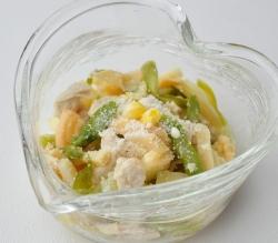 春野菜とささみのオリーブオイル炒め