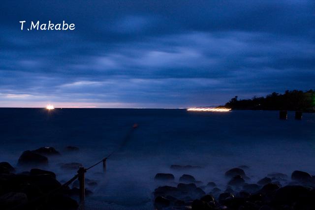 富戸港の朝景