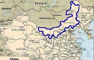 南モンゴル地図