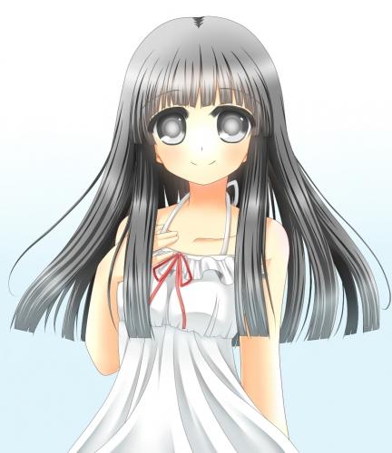 黒髪ロングの女の子 カラー