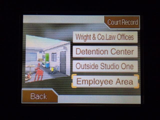 逆転裁判 北米版 従業員エリア コーディー1