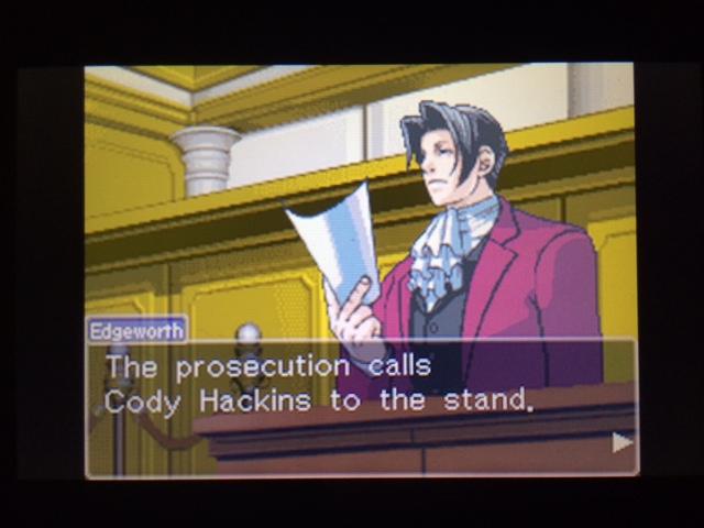 逆転裁判 北米版 コーディー入廷7