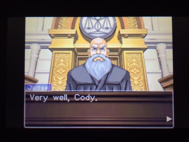 逆転裁判 北米版 コーディー入廷40