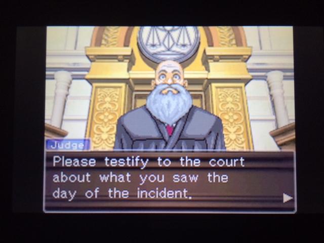 逆転裁判 北米版 コーディー入廷41