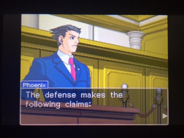 逆転裁判 北米版 フェニックスの主張1