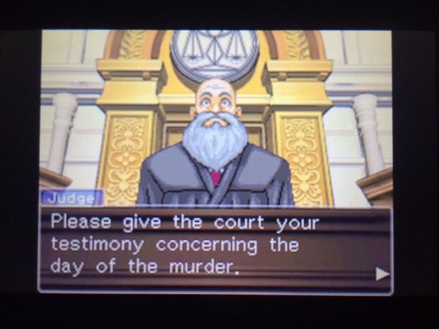 逆転裁判 北米版 ウィル・パワーズ審理最終日オープニング27