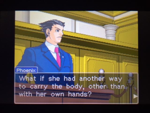 逆転裁判 北米版 遺体の運搬問題3