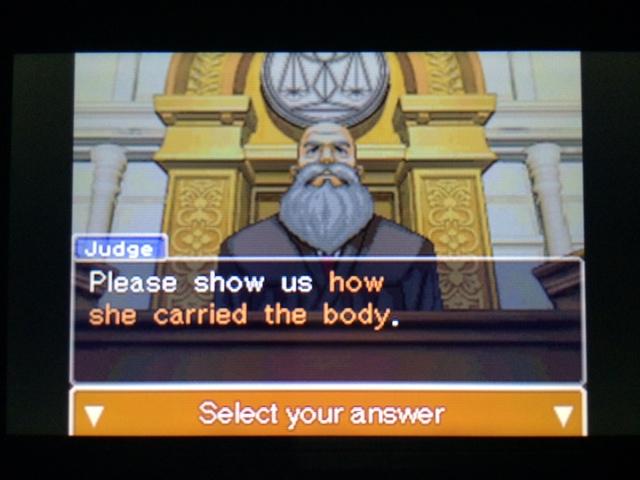 逆転裁判 北米版 遺体の運搬問題9
