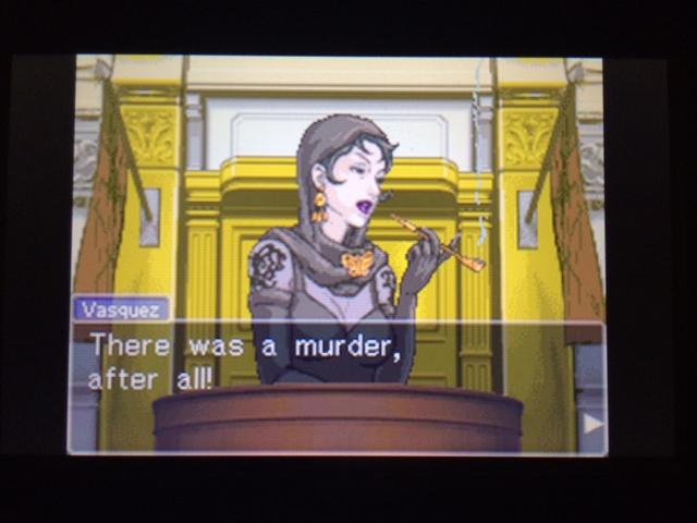 逆転裁判 北米版 ヴァスケズの証言 死体発見後21