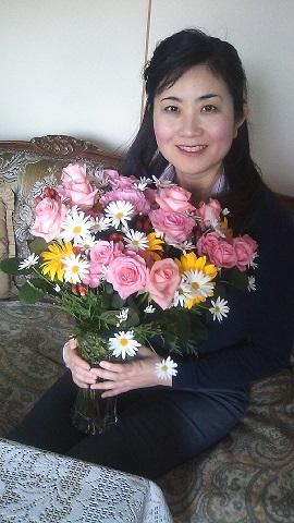 住田先生からのお花と
