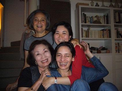 Eline, Manu, Mom I