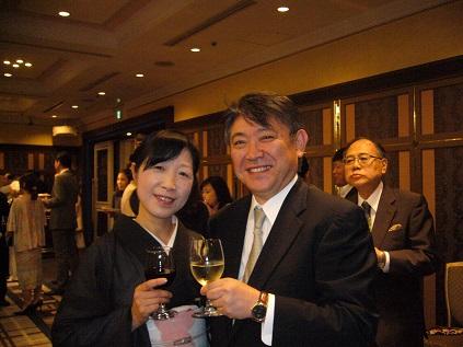 河野先生、萩谷先生with ワイン