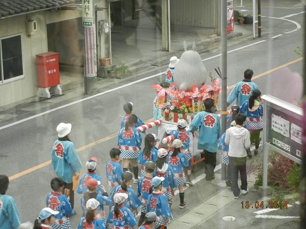 古知野町の春お祭り。