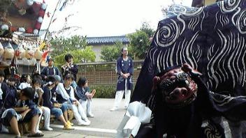 七夕祭り 獅子舞