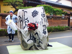 2014七夕 獅子舞踊り 白 ヨコ