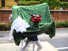 2014七夕 獅子舞踊り 緑