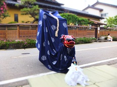 2014七夕 獅子舞踊り 尻尾