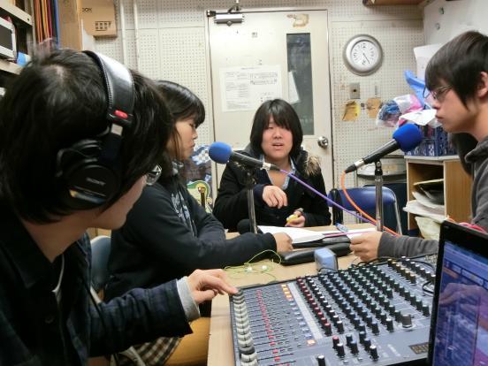 2014新刊ラジオ収録風景
