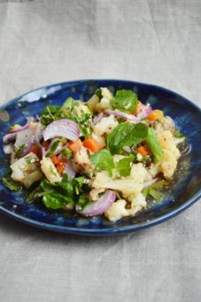 1野菜のラープ