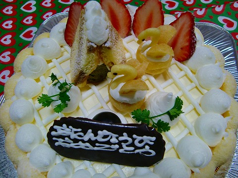ケーキ サンキュゥ♪(o ̄∇ ̄)/
