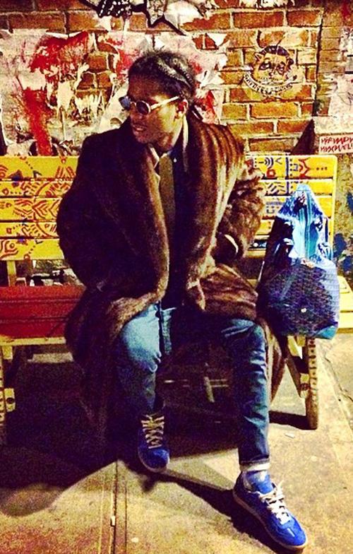 エイサップ・ロッキー(A$AP Rocky):メゾン・マルタン・マルジェラ(MAISON MARTIN MARGIELA)ゴヤール(GOYARD)