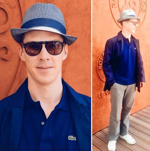 ベネディクト・カンバーバッチ(Benedict Cumberbatch):ラコステ(LACOSTE)/コンバース(CONVERSE)/ペルソール(Persol)
